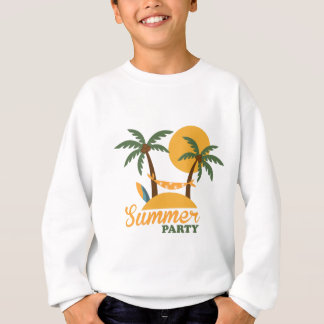 Summer vacation holiday tropical island with palm sweatshirt