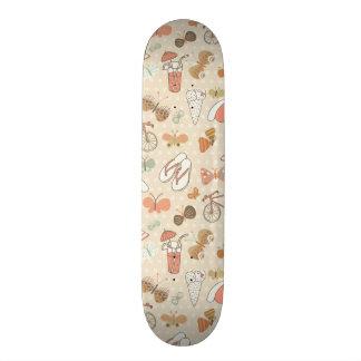 Summer Vacation Pattern Custom Skateboard