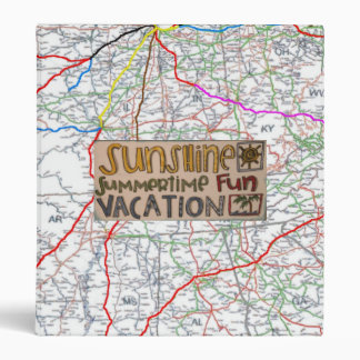 Summer Vacation Road Trip Binder