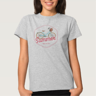 Summer Vacation Time for Fun Bicycle Logo T-shirt