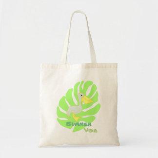 Summer vibe- pelican tote bag