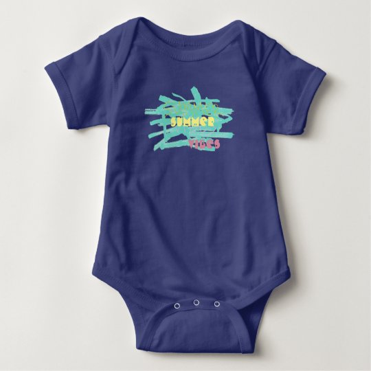Summer Vibes Paint Splashes Baby Bodysuit