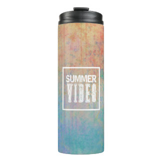 Summer vibes pattern sea and sum thermal tumbler