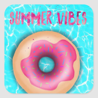 Summer Vibes *Stickers* Square Sticker
