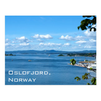 Summer view of Oslofjord from Oslo, Norway Postcard
