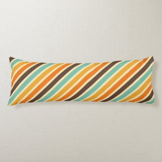 Summer Warmth Stripes Pattern Body Pillow