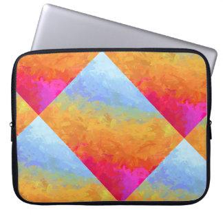 Summer watercolor rainbow colorful design laptop sleeve
