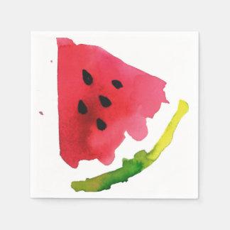 Summer Watercolor Watermelon Disposable Napkin