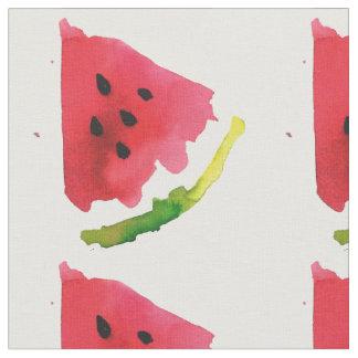 Summer Watercolor Watermelon Fabric