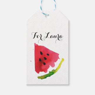 Summer Watercolor Watermelon Gift Tags