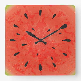 Summer watermelon clock design