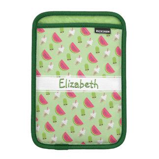 Summer Watermelon Novelty Pattern with Name iPad Mini Sleeve