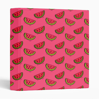 Summer Watermelon on Pink Pattern 3 Ring Binder