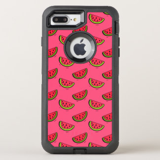 Summer Watermelon on Pink Pattern OtterBox Defender iPhone 8 Plus/7 Plus Case