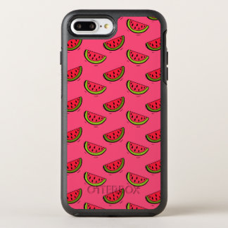 Summer Watermelon on Pink Pattern OtterBox Symmetry iPhone 8 Plus/7 Plus Case