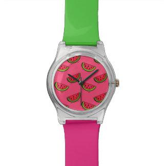 Summer Watermelon on Pink Pattern Watch