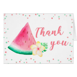 Summer watermelon thank you note card