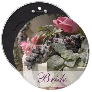 Summer wedding cake with flowers 6 inch round button