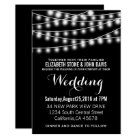 Summer Wedding String Lights Black Design Card