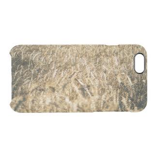 Summer Wheat Field Closeup Farm Photo Clear iPhone 6/6S Case