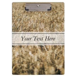Summer Wheat Field Closeup Farm Photo Clipboards