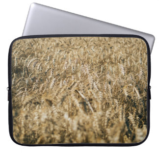 Summer Wheat Field Closeup Farm Photo Laptop Sleeve
