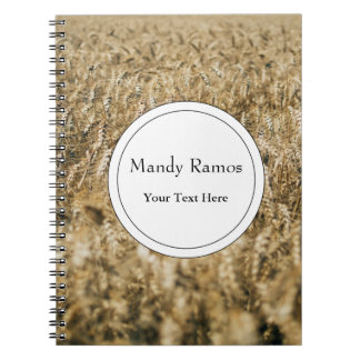 Summer Wheat Field Closeup Farm Photo Notebooks