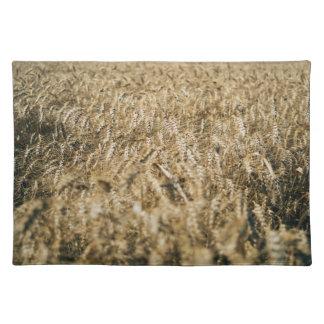 Summer Wheat Field Closeup Farm Photo Placemat