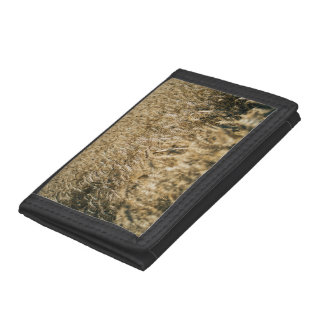 Summer Wheat Field Closeup Farm Photo Trifold Wallet