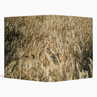 Summer Wheat Field Closeup Farm Photo Vinyl Binder