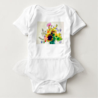 Summer Wildflower Bouquet Baby Bodysuit