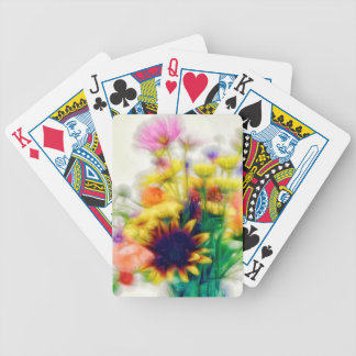 Summer Wildflower Bouquet Bicycle Playing Cards