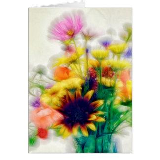 Summer Wildflower Bouquet Card