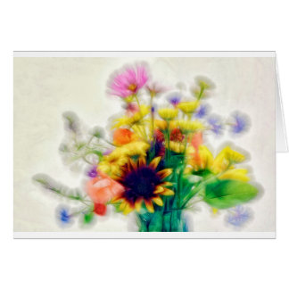 Summer Wildflower Bouquet Card