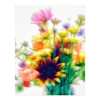 Summer Wildflower Bouquet Letterhead
