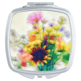 Summer Wildflower Bouquet Makeup Mirrors