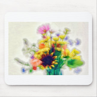 Summer Wildflower Bouquet Mouse Pad