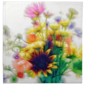 Summer Wildflower Bouquet Napkins