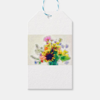 Summer Wildflower Bouquet Pack Of Gift Tags