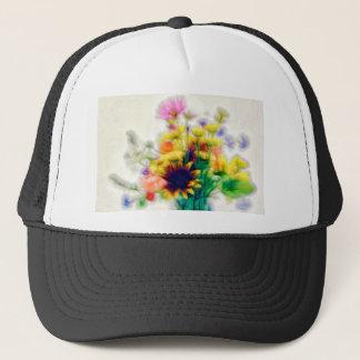 Summer Wildflower Bouquet Trucker Hat
