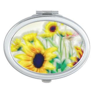 Summer Wildflower Bouquet Vanity Mirrors