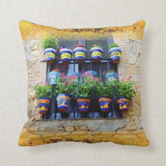 Summer window throw pillow