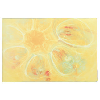SUMMER WINDS Cheerful Whirlwind Flowers Yellow Doormat