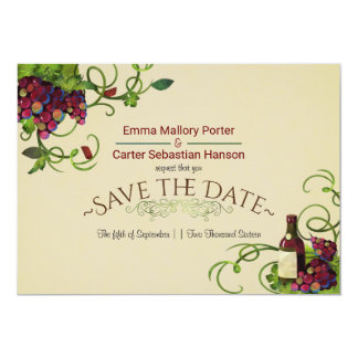 Summer Wine Vineyard Romantic Save the Date Card