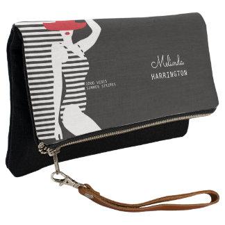 Summer Woman custom name clutch bag