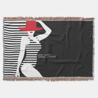 Summer Woman throw blanket