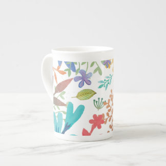 Summer Woodland Watercolor China Mug