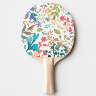Summer Woodland Watercolor Table Tennis Paddle Ping Pong Paddle