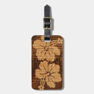 Summer Words Hawaiian Faux Wood Luggage Tags