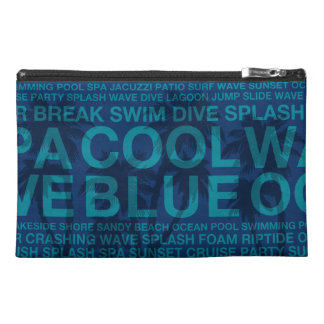 Summer Words Poolside and Hawaiian Palm Tree Travel Accessories Bag